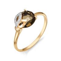 Золотое кольцо с кварцем и фианитами НЮ102020191405квтл