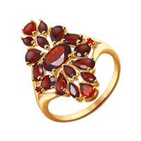 Золотое кольцо с гранатами ДИ714264