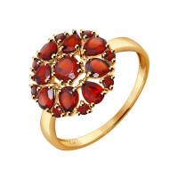 Золотое кольцо с гранатами ДИ714281