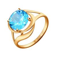 Золотое кольцо с топазами ДИ714304