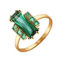 Золотое кольцо с кварцем ДИ714309