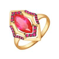 Золотое кольцо с корундами ДИ714317