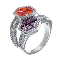Серебряное кольцо с кубическими цирконами (фианитом) ЮЕ1220004001208