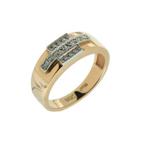 Золотая печатка с бриллиантами 9К1-0070