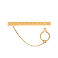Золотой зажим для галстука 2И01-7017