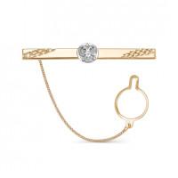 Золотой зажим для галстука 2И01-7019