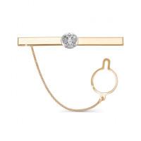 Золотой зажим для галстука 2И01-7020
