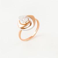 Золотое кольцо с фианитами СН01-114745