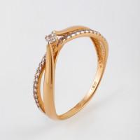 Золотое кольцо с фианитами СН01-114643