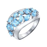 Серебряное кольцо с топазами ДИ92011196