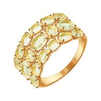 Золотое кольцо с кварцем ДИ714298