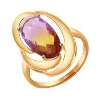 Золотое кольцо с ситалом ДИ714346
