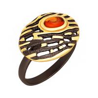Серебряное кольцо с янтарем ЯН71131081
