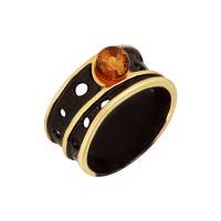 Серебряное кольцо с янтарем ЯН71131071