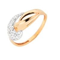 Золотое кольцо с фианитами 7А11443