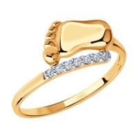 Золотое кольцо с фианитами ДИ016675
