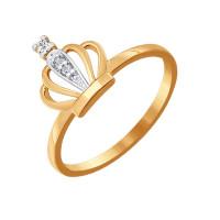 Золотое кольцо с фианитами ДИ016771