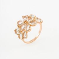 Золотое кольцо с кварцем ДИ714301