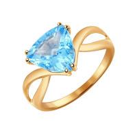 Золотое кольцо с топазами ДИ714344