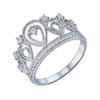 Серебряное кольцо с фианитами ДИ94011215