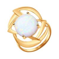 Золотое кольцо с опалами ДИ714380