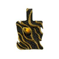 Серебряная подвеска с янтарем ЯН73131068