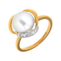 Золотое кольцо с жемчугом ПЭ1901247Р