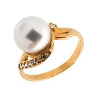 Золотое кольцо с жемчугом ПЭКЛ843