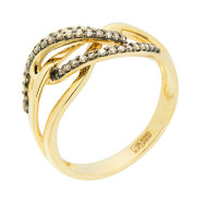 Золотое кольцо с бриллиантами ЮЕР15331