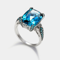 Золотое кольцо с бриллиантами и топазами ЮЕВР00199К-20