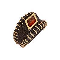 Серебряное кольцо с янтарем ЯН71131039