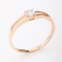 Золотое кольцо с бриллиантом КРК3212814/9