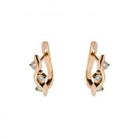 Золотые серьги с бриллиантами КРС3223808/9