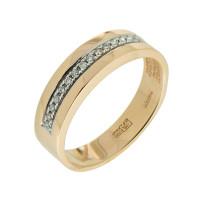 Золотое кольцо обручальное с бриллиантами ПСР0121101-03