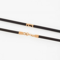 Каучуковый шнурок с золотой вставкой НР6032-6к