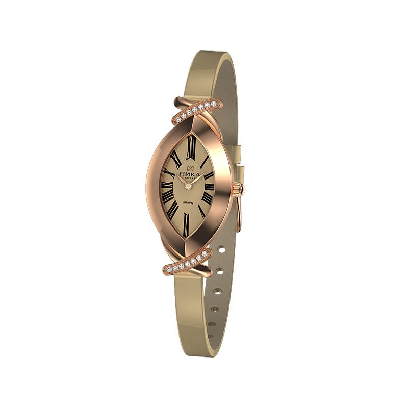 Золотые часы с фианитами НИ0784.2.1.41H