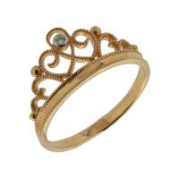 Золотое кольцо с бриллиантом ЮЫ2002100023394