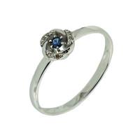 Золотое кольцо с сапфиром и бриллиантами ЮЫ2012700023429