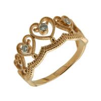 Золотое кольцо с бриллиантами ЮЫ2002100023402