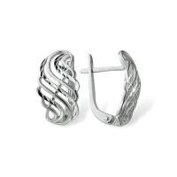 Серебряные серьги ЮП1200110006 без вставок камней