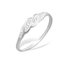 Серебряное кольцо с фианитами ЮП1010010062