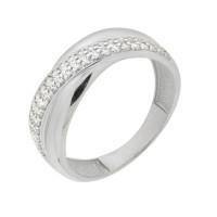 Серебряное кольцо с фианитами ЮП1010010145
