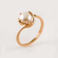 Золотое кольцо с жемчугом ПЭКЛ8276