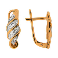 Золотые серьги с фианитами СЩ20014500