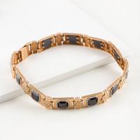 Золотой браслет мужской с ониксами РЫ4003850