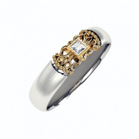 Золотое кольцо обручальное с бриллиантом КАКО-ОКБ266ГЖ25