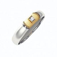 Золотое кольцо обручальное с бриллиантом КАКО-ОКБ266ГМ25