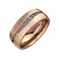 Золотое кольцо обручальное с бриллиантами КАКО-СТ16ГЖ