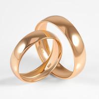 Золотое кольцо обручальное 2БК35К-50Л