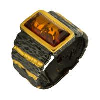 Серебряное кольцо с янтарем ЯН71131031